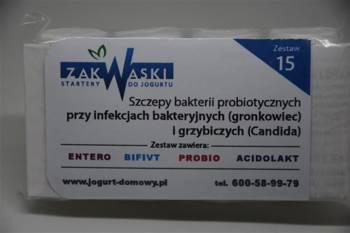 Zestaw nr 15 przy infekcjach bakteryjnych (gronkowiec) i grzybiczych (drożdżaki)